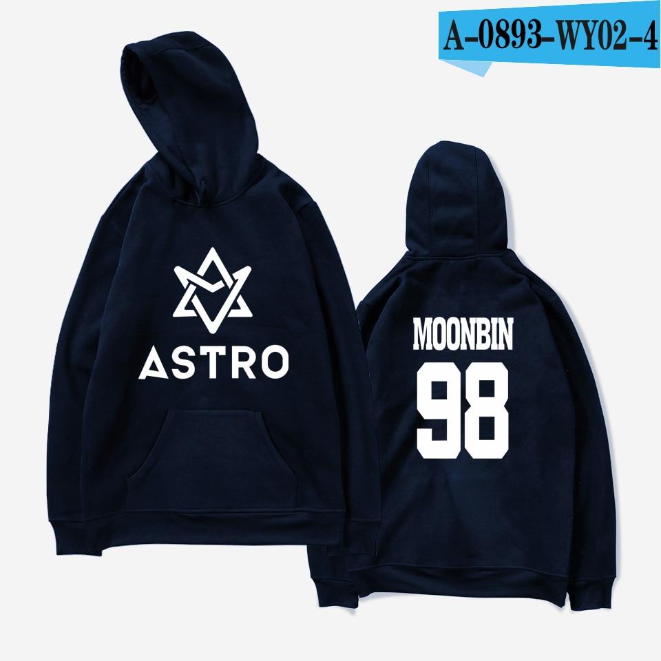 LUCKYFRIDAYF 2018 ASTRO Kpop Hoodies Moletom STAR Group Spring Women/Men Harajuku Sweatshirt Casual Hoodie Men/Women Clothing 10