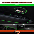 20M Car Interior Decoration Moulding Styling Trim DIY Strip Luminous Green Color Flexible No Need Adhesive Easy Installation