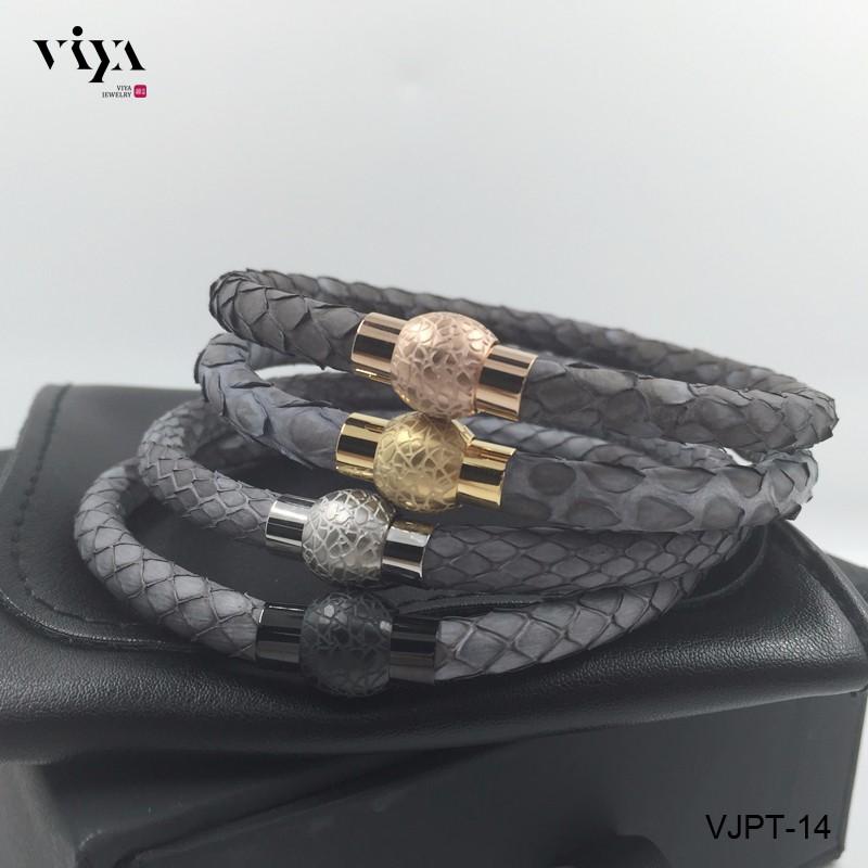 grey python leather bracelet (14)