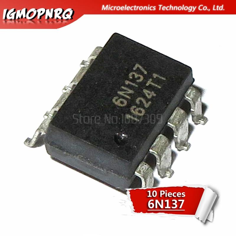 10pcs Optocoupler 6N137 6N136 6N135 6N139 DIP6 / SOP6 New Original