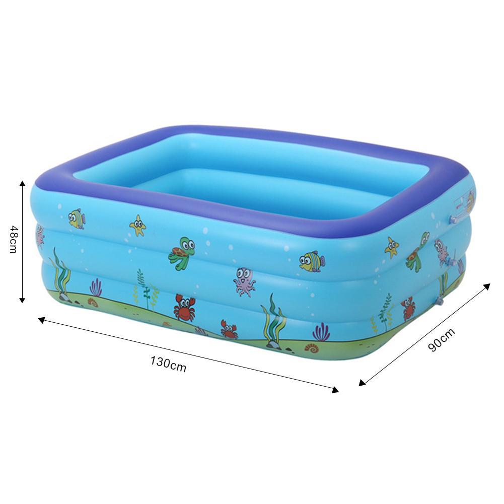 Piscines portatives pour enfants baignoire gonflable bébé piscine rectangulaire exploser piscines enfants jouets d'eau en plastique dur pour l'extérieur