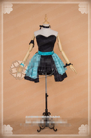 Anime Cosplay Costume vocaloid House dance Luo Tian Yi Black Sexy tube top dress gorgeous and lovely Style Free Shipping B
