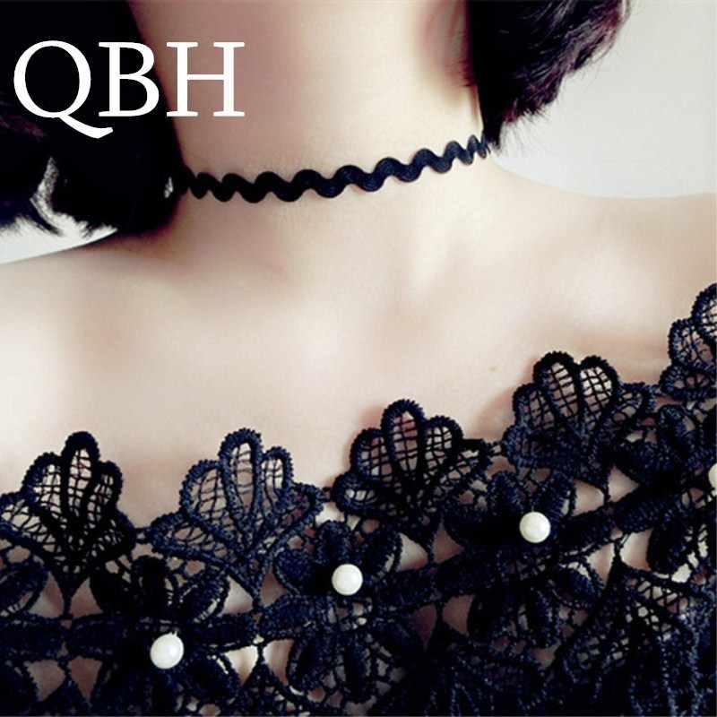 NK896 Mới Harajuku Gothic Nhung Đen Vòng Cổ Choker Nữ Xương Đòn Collares Trang Sức Thời Trang BIJOUX Colier Vòng Cổ Bé Gái Tặng