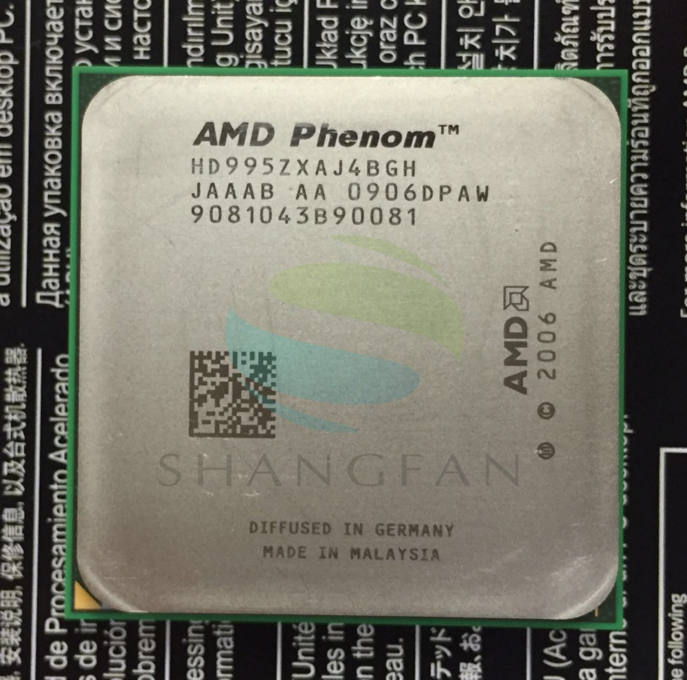 AMD Phenom X4 9950 Quad-Core DeskTop 2.6GHz CPU HD995ZXAJ4BGH Socket AM2+/940pin desktop cpu 940 socket tester cpu socket analyzer dummy load fake load with led