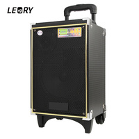 LEORY 300W Bluetooth Outdoor Moving Rod Box A8 5 Loudspeaker 8 Inch Recording Remote Control Speaker