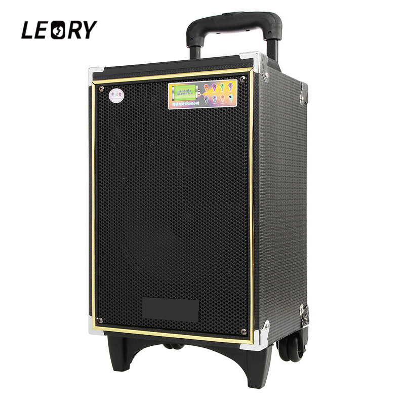 LEORY 300W Bluetooth Outdoor Moving Rod Box A8-5 Loudspeaker 8-inch Recording Remote Control Speaker Performance Concert Dance