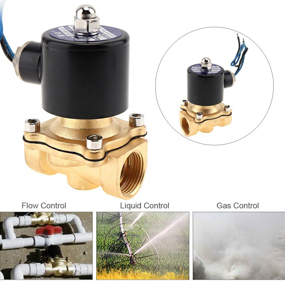 Heimwerker Treu 3/4 dc 24 V Elektrische Magnetventil Messing Pneumatische Ventil Für Wasser/Öl/gas