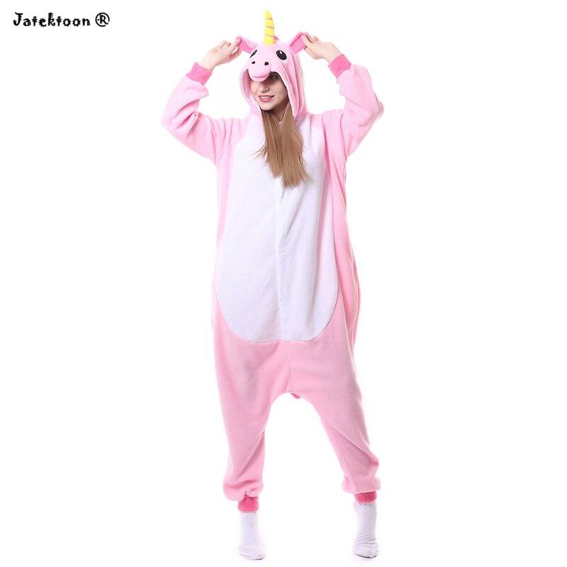 65f7049a7a 2017 Wholesale New Adult Unisex Flannel Hoodie Pink Pony Unicorn Pajamas  Costume Cosplay Animal Onesies Sleepwear Hot Sell