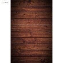 Laeacco Plain Wooden Boards Floor Photography Backdrops Vinyl Backgrounds For Photo Studio Customizable
