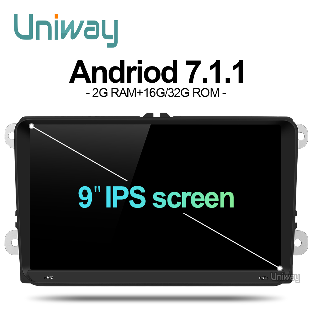 uniway ADZ9071 android 7 1 car dvd for vw passat b5 b6 golf 4 5 polo