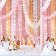 3,6 м четыре листа бумажные гирлянды в форме клевера Свадьба детский душ тканевая гирлянда вечерние поставщики задник DIY Декор подвесные лен...