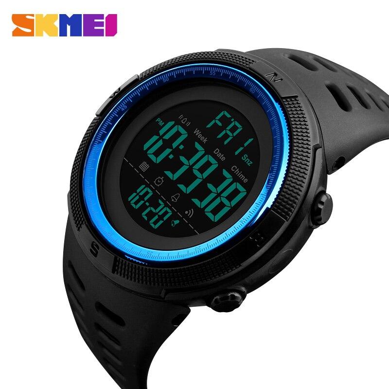 SKMEI hombres de la Marca de Moda Relojes Deportivos Cronógrafo Cuenta Atrás Hombres Digital Resistente Al Agua Reloj de Hombre militar Reloj Relogio masculino