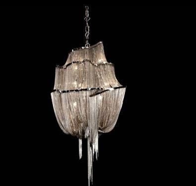Luzes Pingente Cadeia do alumínio E14 Conduziu a Iluminação Moderna Para Sala de estar Pendurar lâmpada Industrial Lâmpada de Suspensão Luminai D650mm