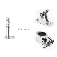 1 stainless steel 2 Pcs Quick Release Hinge Pins Marine Hardware 316 Stainless Steel Fit For Boat Top Deck Hinge Silver 1.29 Inch (4)