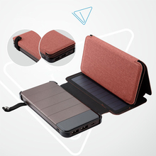 KERNUAP 8W folding Solar battery 10000mah universal Portable Mobile Phone Tablets Charger Outdoors Emergency External Battery