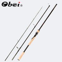 Obei perigee baitcasting fishing rod travel ultra light spinning lure 5g 40g M/ML/MH accion Rod 1.8m 2.1m 2.4m 2.7m 3 section