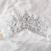 New Fashion Hair Tiaras Handmade Crystal And Glass Material Wedding Party Bridal Hair Crowns Women Hair