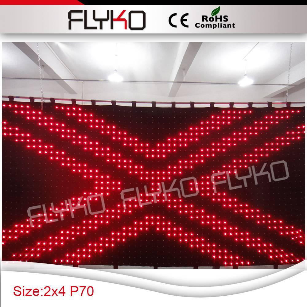 Cheap black stage curtains - Free Shipping P7 2x4m Led Black Stage Background Curtains China Mainland