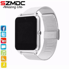 Купить с кэшбэком SZMDC sports Smart Watch Men Z60  Women Bluetooth Wrist Smartwatch Support SIM/TF Card Wristwatch For Android Phone PK A1 GT08