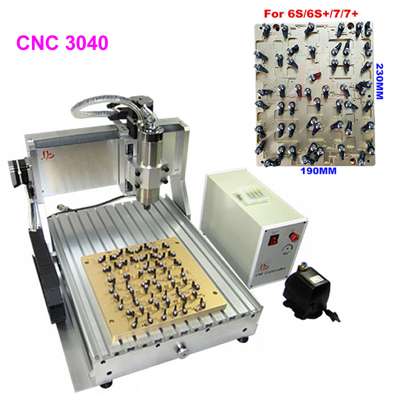 IC CNC 3040 Router Chips Milling Polishing Engraving Machine with 2pcs Mould for iPhone 4 4s 5 5s 5c 6 6+ 6s 6s+ 7 7 plus Repair cnc router wood milling machine cnc 3040z vfd800w 3axis usb for wood working with ball screw