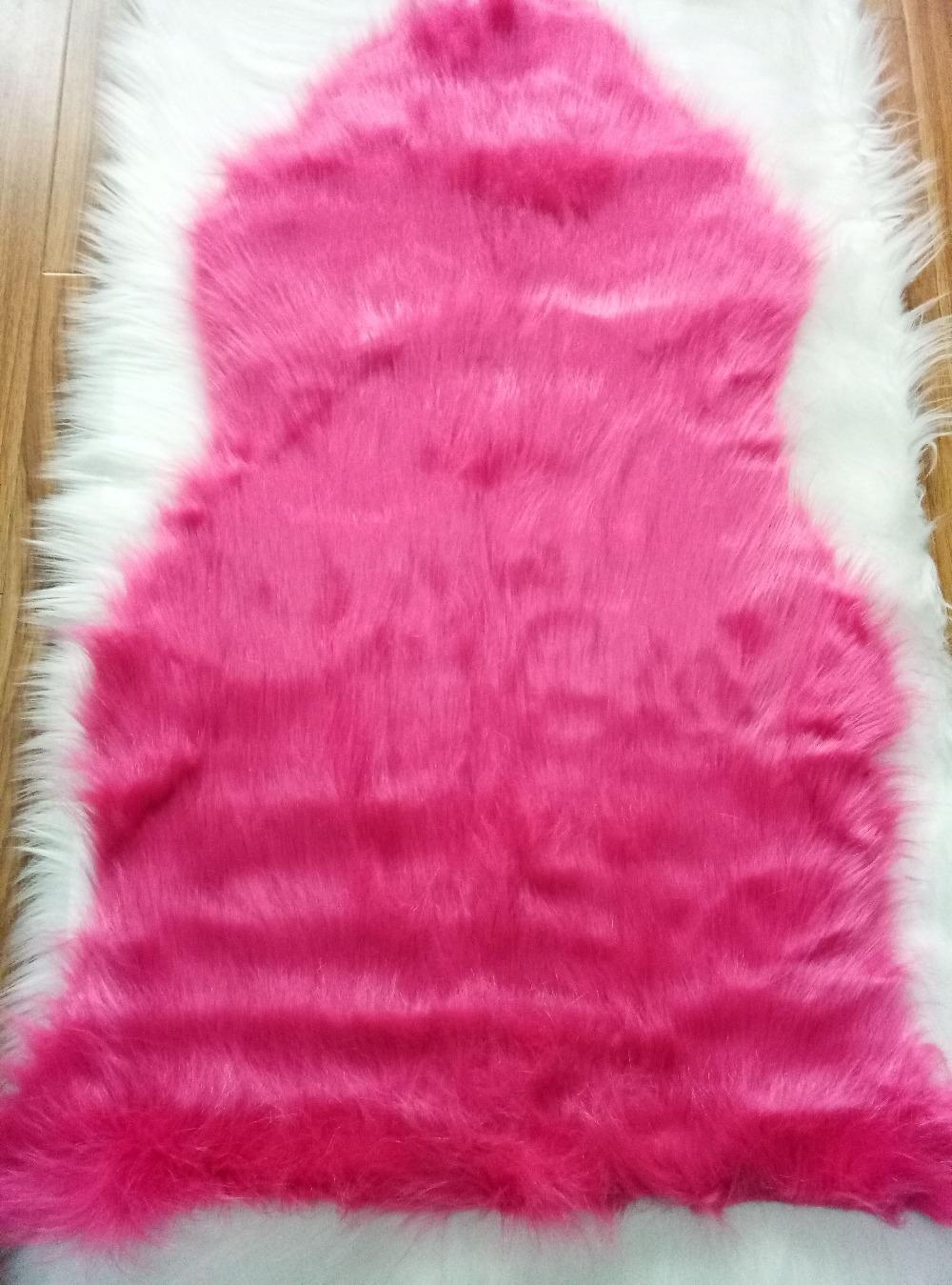 Rosa 9 cm dicke faux schaffell teppiche für schlafzimmer neben teppich sofabezug matte für zuhause wohnzimmer