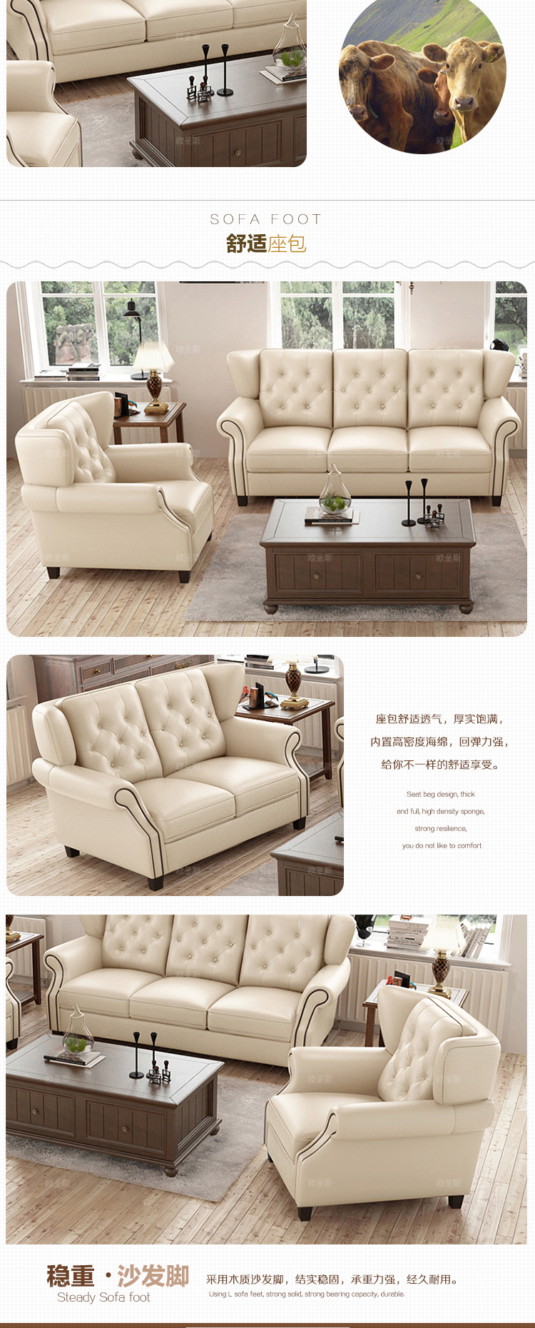 New Style Sofa Set Design Us 1045 5 Off Latest Sofa Set Designs 6 Seater American Style Chesterfield New Antique Furniture Vintage Brown Leather Sofa Set Price F80a In