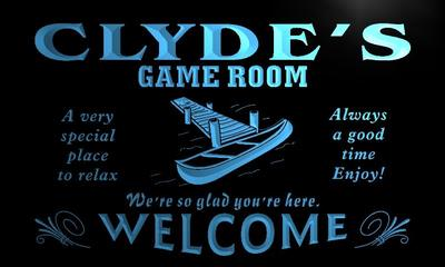 x0187-tm Clydes Hideaway Game Room Custom Personalized Name Neon Sign Wholesale Dropshipping On/Off Switch 7 Colors DHL