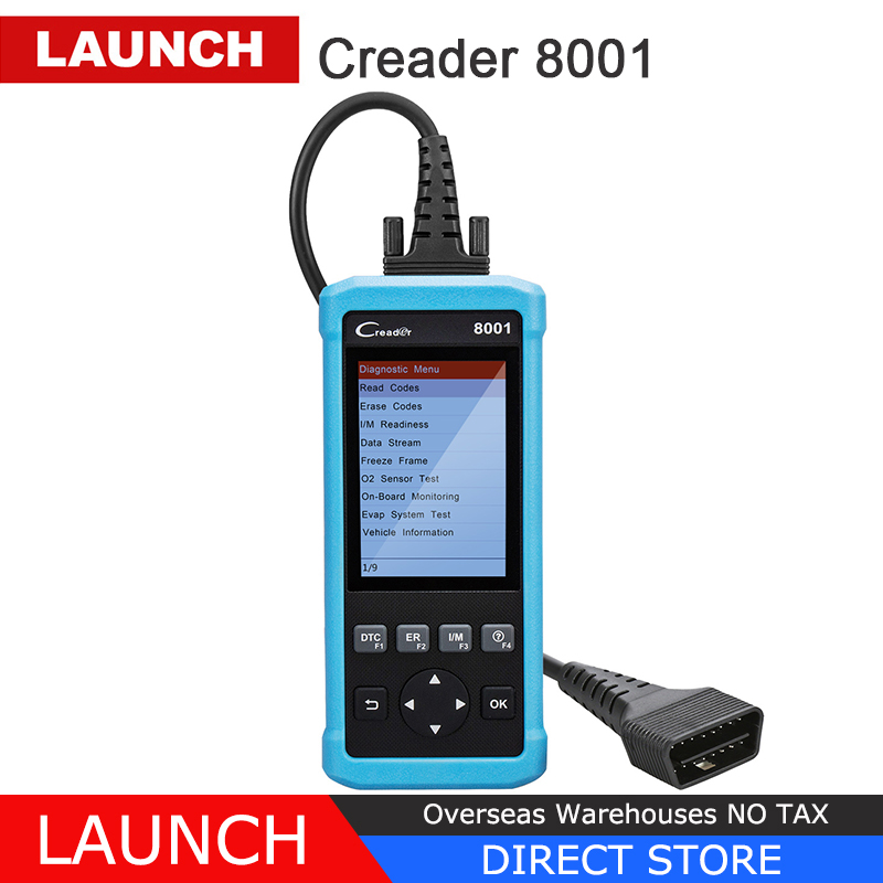 OBD2 Scanner Launch CReader 8001 Car Code Reader Full OBDII/EOBD Auto Diagnostic Scanner Tool with ABS/SRS/EPB/Oil Service launch diy scanner creader 9081 full obd2 scanner scan tool diagnostic obdii oil epb bms sas dpf tpms abs bleeding cr9081