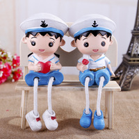 Couple of resin outseam doll furnishing articles, household decoration, creative gifts,