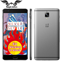 "Новые Оригинальные Oneplus 3 one plus 3 4 Г LTE Mobile телефон 6 ГБ RAM 64 ГБ ROM Snapdragon 820 Quad Core 5.5 ""HD Android 6.0 Отпечатков Пальцев"
