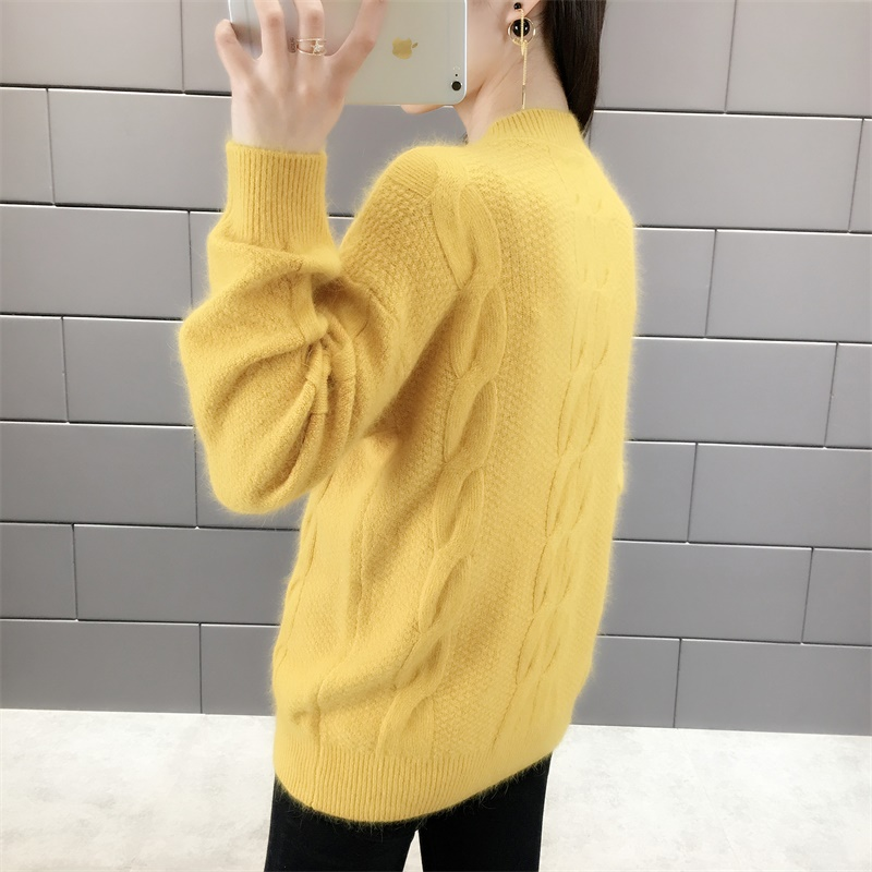 2019 New Women Pullover Female Casual Sweater Twist O Neck Autumn Winter Pullovers and Sweaters Fashion Knitted Jumper Tops in Pullovers from Women 39 s Clothing