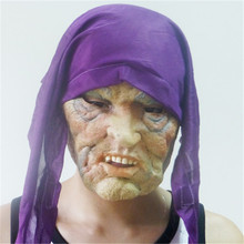 Terror Halloween Mask Party Clown Latex Mask Wholesale Retail Free Shipping Purple Scarf Hot Festive Supplies MJ998