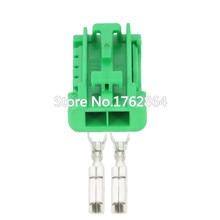 2 pin electronic fan plug black green random plastic connector with terminal DJ7028K-2.8-21 2P