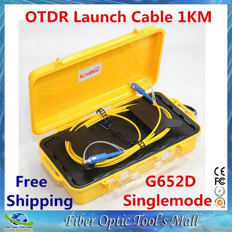 imágenes para Fibra Óptica OTDR Launch Box Cable Monomodo 9/125um 1 km Conector Personalizado