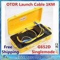 OTDR Lançamento Caixa de Cabo de fibra Óptica Monomodo 9/125um 1 km Conector Personalizado