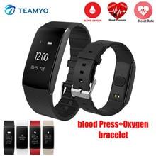 Teamyo A86 Смарт Браслет крови Давление часы импульса метр oxgyen сердечного ритма фитнес-трекер кардио Sport Smart Band