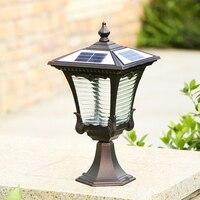 solar column lights outdoor aluminum pillar lamp waterproof stigma lights yard decorative lighting