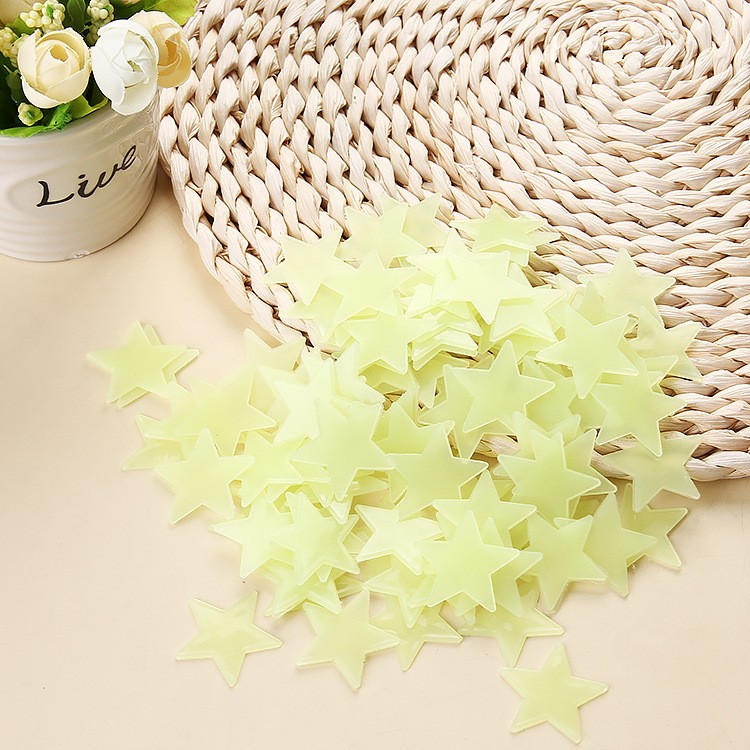 HTB1 nTqOXXXXXceXpXXq6xXFXXX7 - * 100 pcs. 3D stars glow in the dark Luminous on Wall Stickers for Kids Room living room  Wall Decal Home Decoration poster