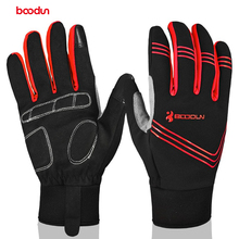 check price BOODUN Touch Screen Full Finger Cycling Gloves Unisex Outdoor Sports Riding Bike Glove Mountain Bike Gloves for Men Women Sale Best Quality