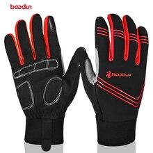 BOODUN Touch Screen Full Finger Cycling Gloves Unisex Outdoor Sports Riding Bike Glove Mountain Bike Gloves for Men Women
