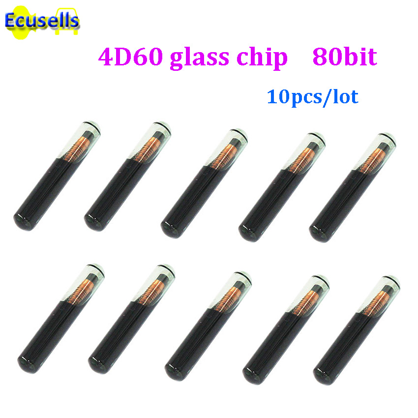 Good Quality !! 4D60 Glass Chip Blank Transponder Chip 10 pcs