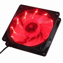 2 Piece Gdstime 90mm 3Pin 12V Red LED Cooling Fan for Compute Case