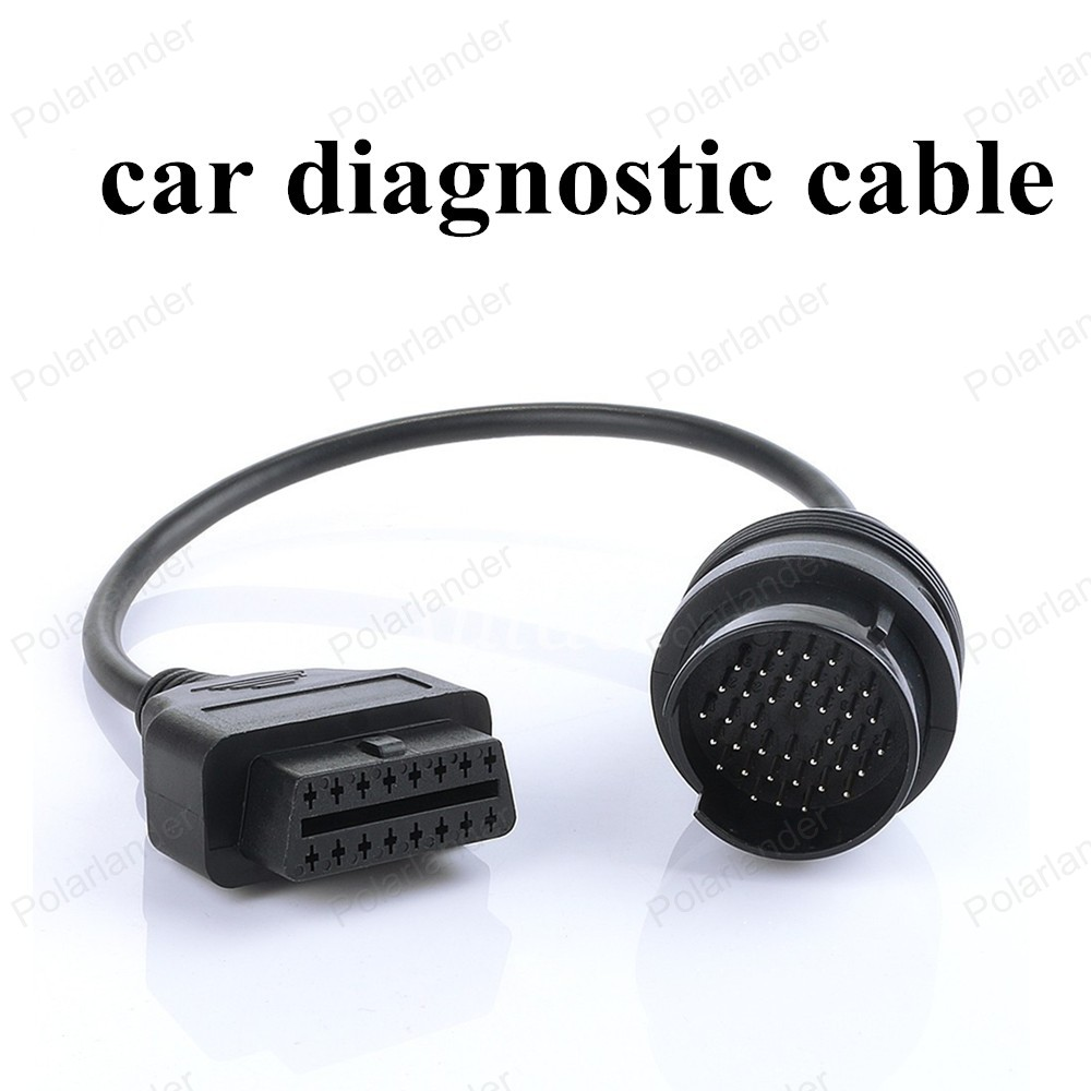hot sell Truck IVECO OBD2 Diagnostic Adapter For Iveco 38 Pin Heavy Duty Extension Cable
