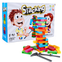 Stacking Overlay Tower Educational Desktop Toy Music DIY Building colorful Block building prank hammer board floor game children