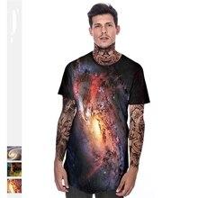 3 Style 3D Galaxy Space T Shirt Unisex Loose Men Summer Top Tee Hipster Harajuku T-shirt Casual Mens Tops Oversized Hip Hop Tees