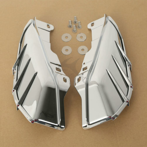 Motorcycle Chrome Mid-Frame Air Deflector For Harley Touring Electra Street Glide FLTR FLHX 2009-2018 motorcycle saddle bag support brackets moto rear decoration case for harley touring road street glide ultra fltr flhx 2009 2013