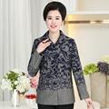 XL-4XL Woolen Coat Women New Middle-aged Women Long-sleeved Lapel Single Breasted Cardigan Jaqueta Feminina Autumn J369