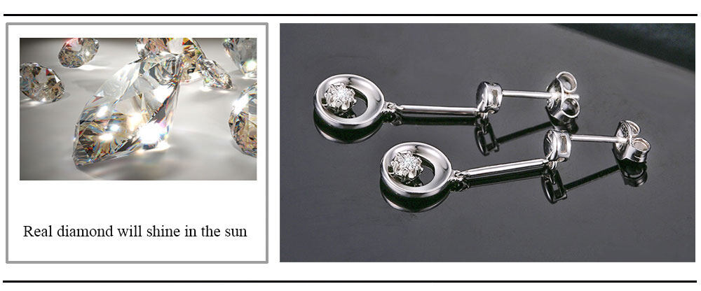silver diamond earrings CAE01844SA (20)