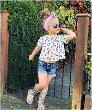 children clothes teenage girls clothing  toddler christmas outfit girl set 2019 summer print kids costume fashion floral
