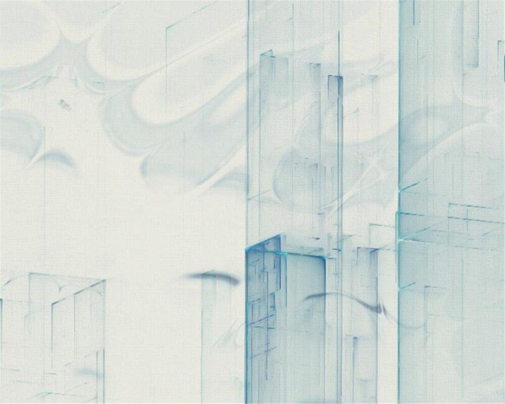 Купить с кэшбэком Beibehang Custom wallpaper murals modern minimalist abstract urban architecture watercolor retro wall wallpaper for walls 3 d